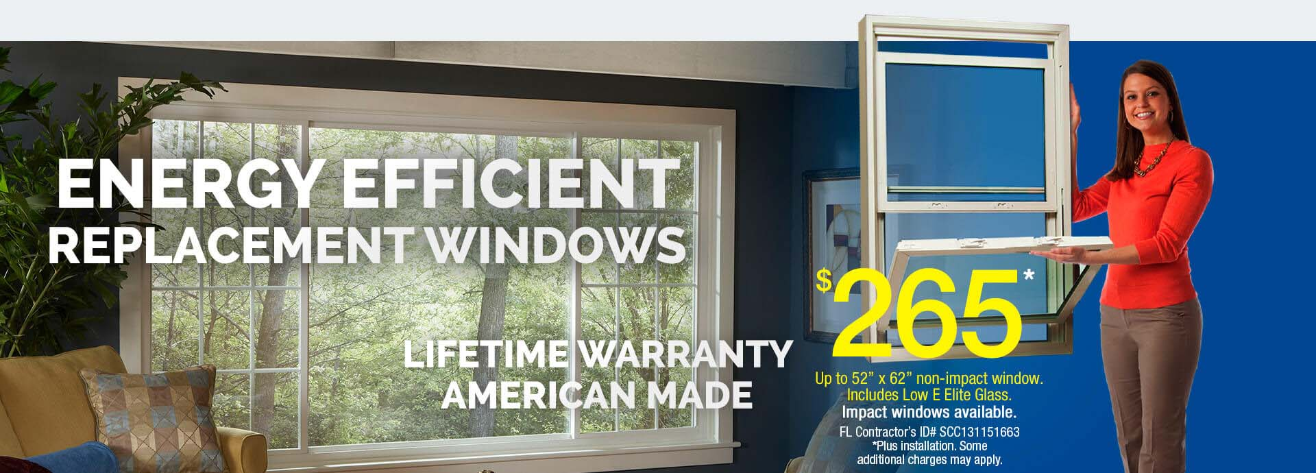 Replacement windows siding doors tampa fl window for Energy efficient replacement windows