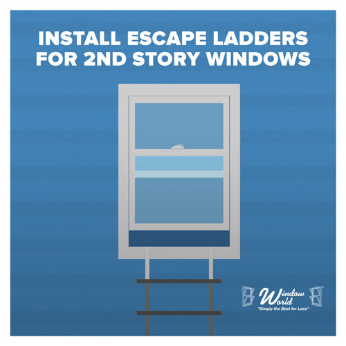 Install Escape Ladders For 2nd Story Windows