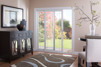 With Symmetrical 3u2033 Rails And Sleek Architectural Lines, Our  Contemporary Style Sliding Patio Door Will Impart Casual Elegance To Your  Home.