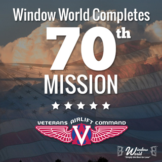 Flight Marks 70th Veterans Airlift Command Mission for Window World