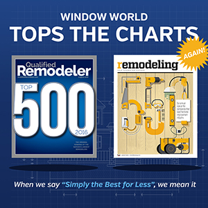 Window World Sweeps the Rankings of Qualified Remodeler and Remodeling magazine
