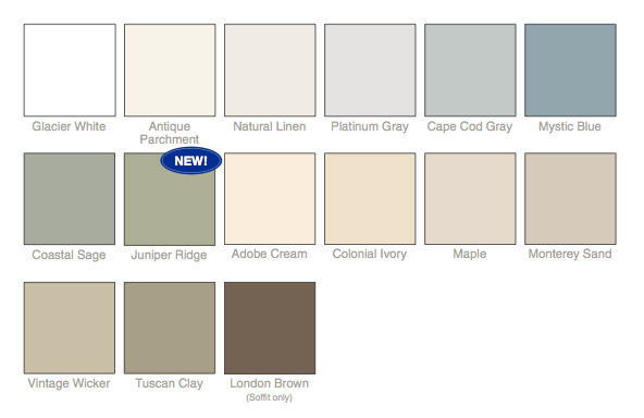Vinyl Siding Color Options 1