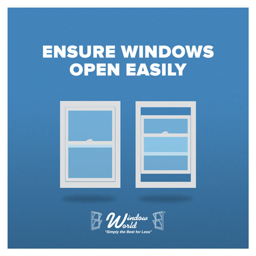 Ensure Windows Open Easily